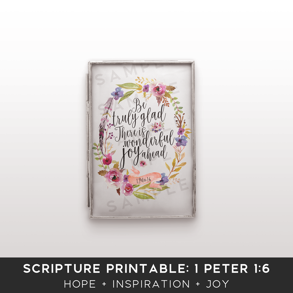 Scripture Printable Kit for Bloggers: 1 Peter 1:6 - the M&K Design Studio