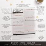 Printable Kit for Bloggers: the Delilah Daily Planner Printable - the M&K Design Studio