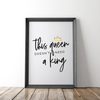 """This Queen Doesn't Need a King"" Typography Poster - the M&K Design Studio"