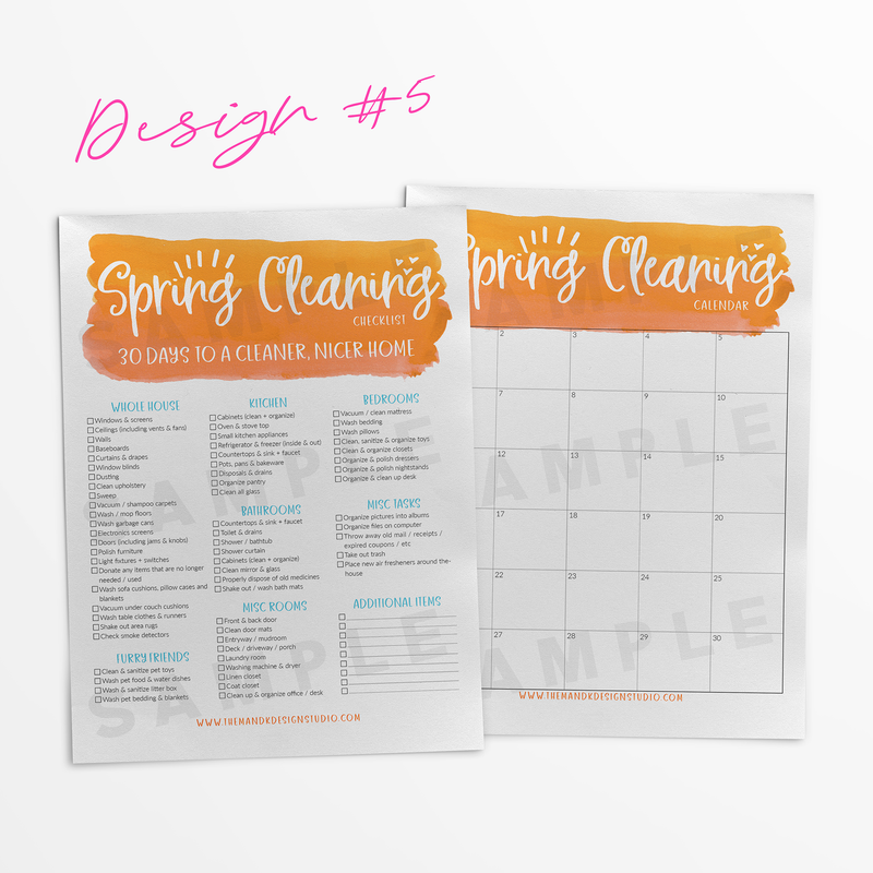 Blogger Printable Kit: Spring Cleaning / 30 Days to a Cleaner Home Pack (SEMI-EXCLUSIVE) - the M&K Design Studio