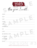 "Blogger Printable Kit: ""This Year I Will"" 2019 Goal Setting Printable for Bloggers (EXCLUSIVE) - the M&K Design Studio"
