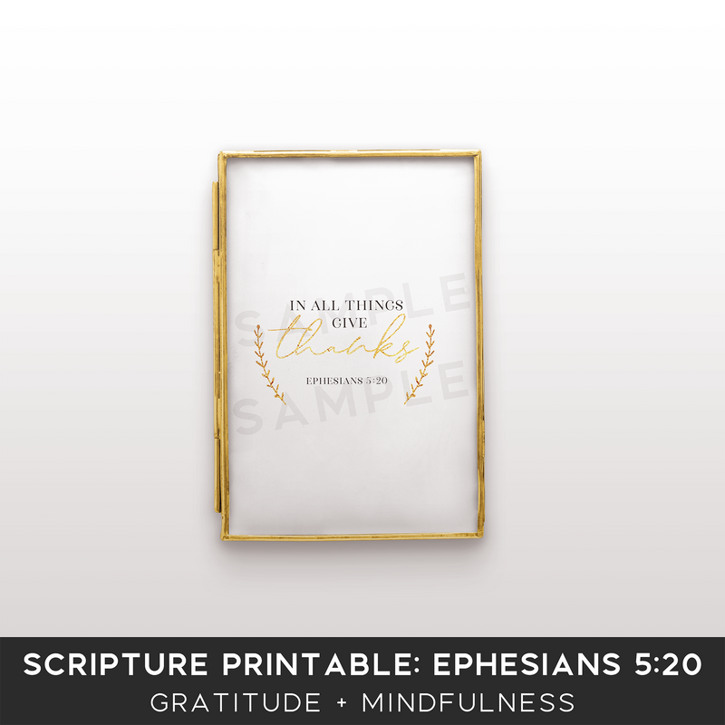 CLEARANCE! Scripture Printable Kit for Bloggers: Ephesians 5:20 - the M&K Design Studio