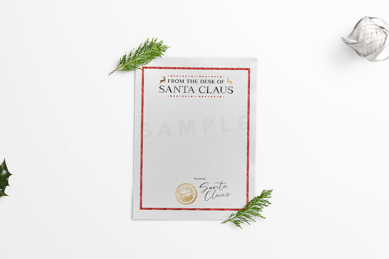 """From the desk of Santa Claus"" Stationery 
