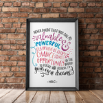 HRC Print #1: Never Doubt That You Are Valuable - COLOR - the M&K Design Studio