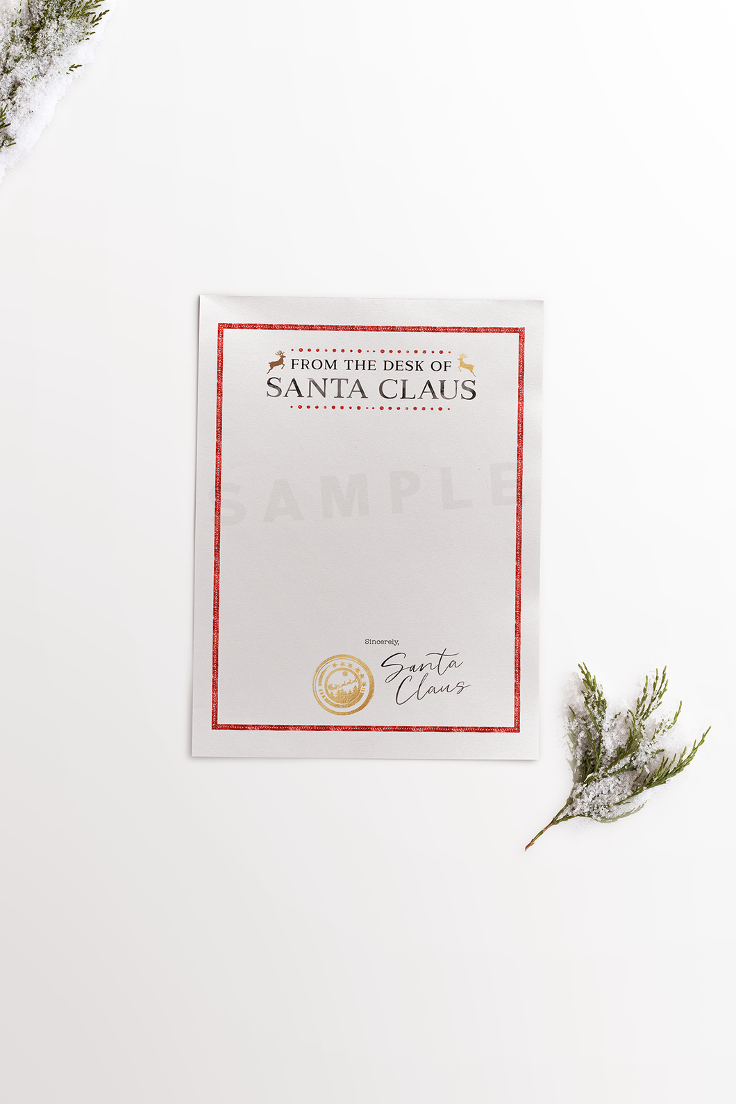 from the desk of santa claus stationery printable santa