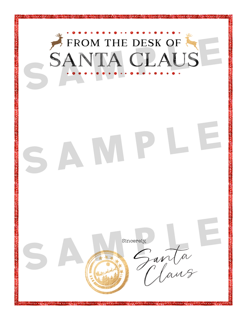 It's just a picture of Free Printable Santa Stationary inside signature