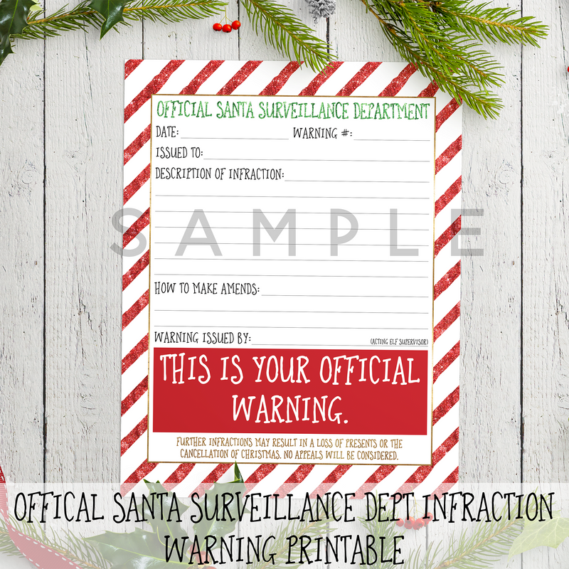 Santa Surveillance Department - the M&K Design Studio