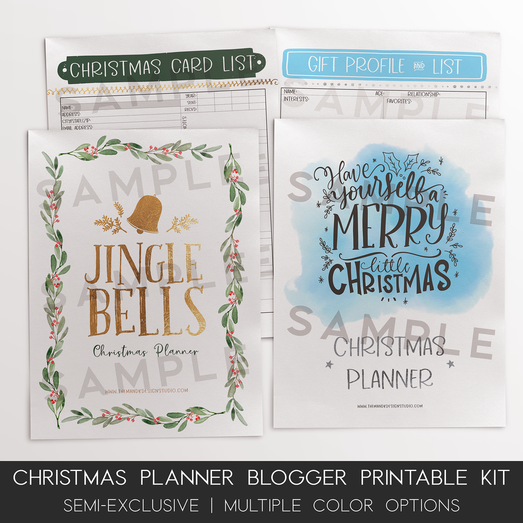Blogger Printable Kit: Best Christmas Ever Holiday Planner - the M&K Design Studio