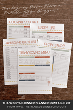 Printable Kit for Bloggers: Thanksgiving Dinner Planner Pack - the M&K Design Studio