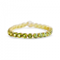 peridot, green peridot, august birthstone, lime green stone, peridot tennis bracelet
