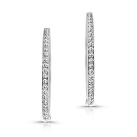 diamond hoops, hoops, white gold hoops, diamond earrings