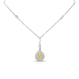 Yellow & White Diamond Pendant
