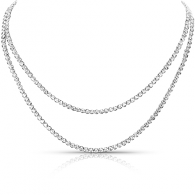 big diamonds, diamond tennis necklace, tennis necklace, diamond anniversary, double strand diamond necklace