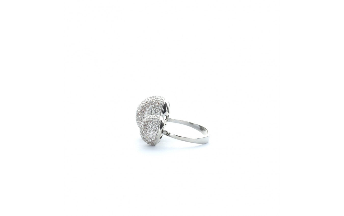 Pave Diamond Double Ring