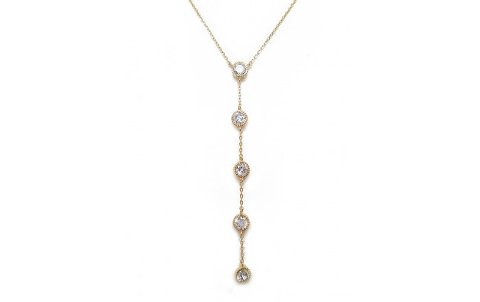 Dangle Diamond Chain Necklace