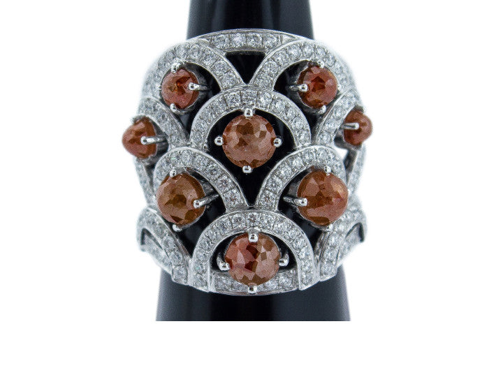 Orange Diamond Cocktail Ring