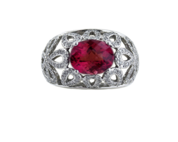 Pink Tourmaline Star Cocktail Ring