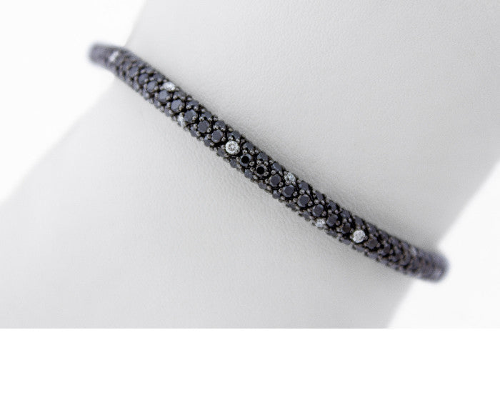 Black Diamond Bracelet with White Diamond accents