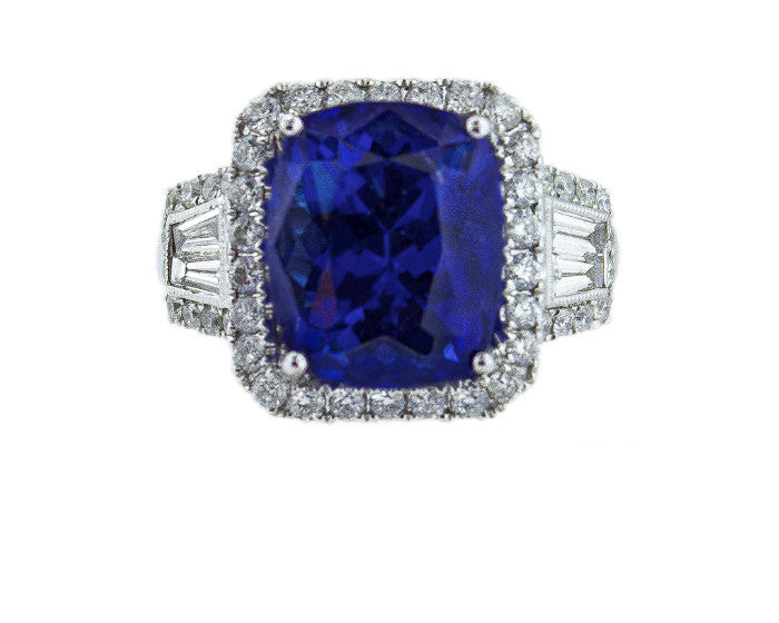 tanzanite, tanzanite ring, tanzanite and diamonds, tanzanite jewelry, big tanzanite, tanzanite cocktail ring