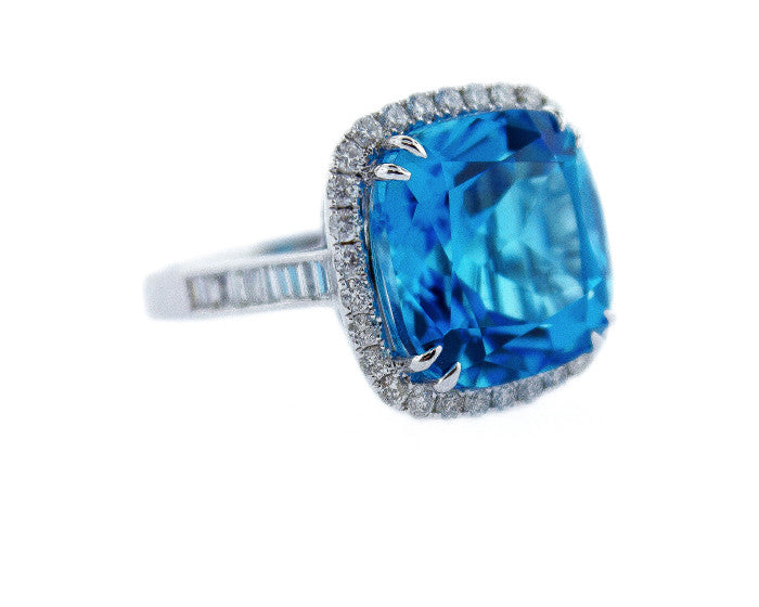 blue topaz, blue topaz ring, blue topaz and diamonds, cocktail ring, blue topaz cocktail ring, blue topaz birthstone