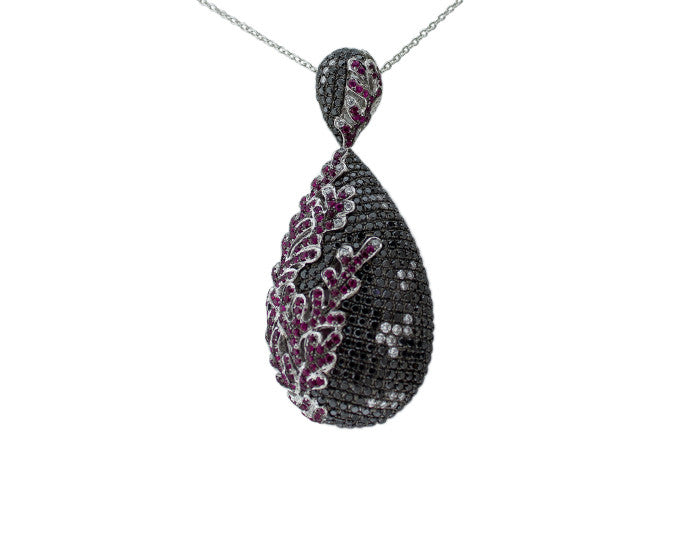 black crystal, black stones, black diamonds, heart necklace, heart chain, chain necklace, rubies, ruby pendant, ruby necklace, ruby birthstone