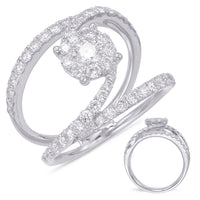 Pave Swirl Diamond Ring