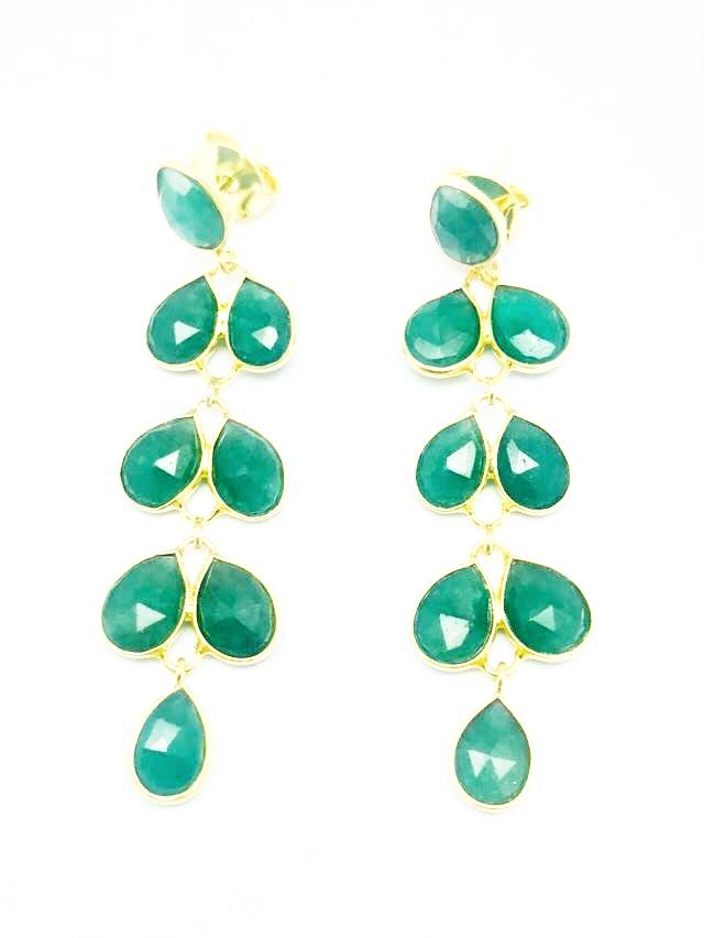 Semi-Precious Stone Dangle Earrings