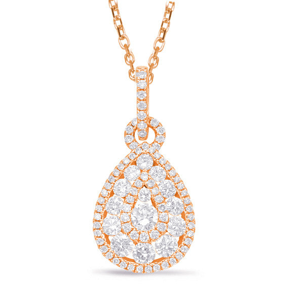 with pear en solitaire diamond golden carat pendant shaped white