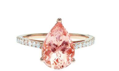 Morganite Pear Ring