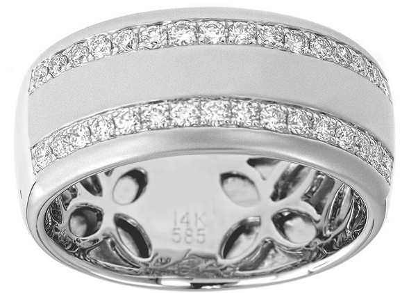 Men's Two Row Diamond Band