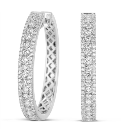 diamond hoops, hoops