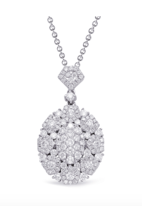 Oval Pave Diamond Pendant