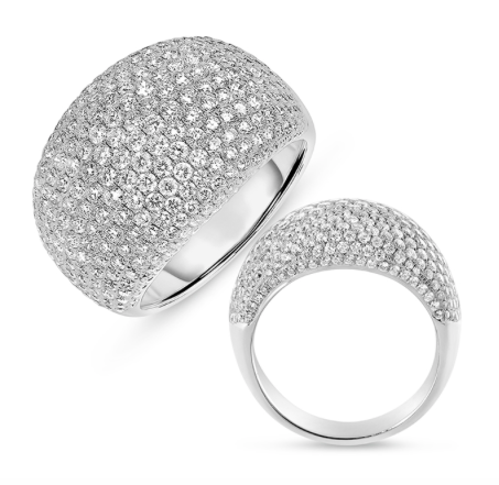 Pave Dome Diamond Ring