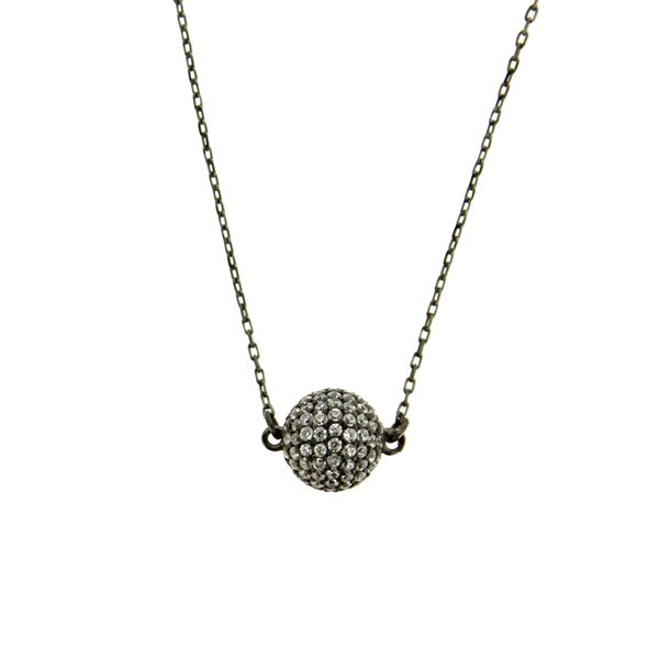 Pave Crystal Ball on Chain