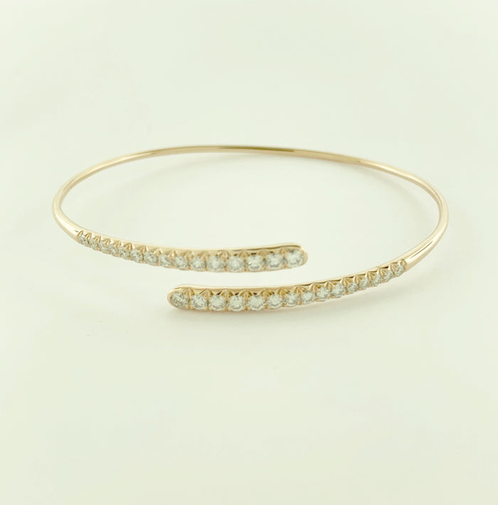 swirl bracelet, swirl bangle, diamond bangle, diamond bracelet, stackable bangles, stackable bracelet, gold and diamond bangle