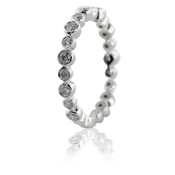 Bezel Round Eternity Ring