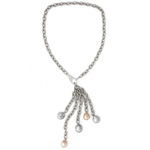 Baroque Pearl Tassel with Chain