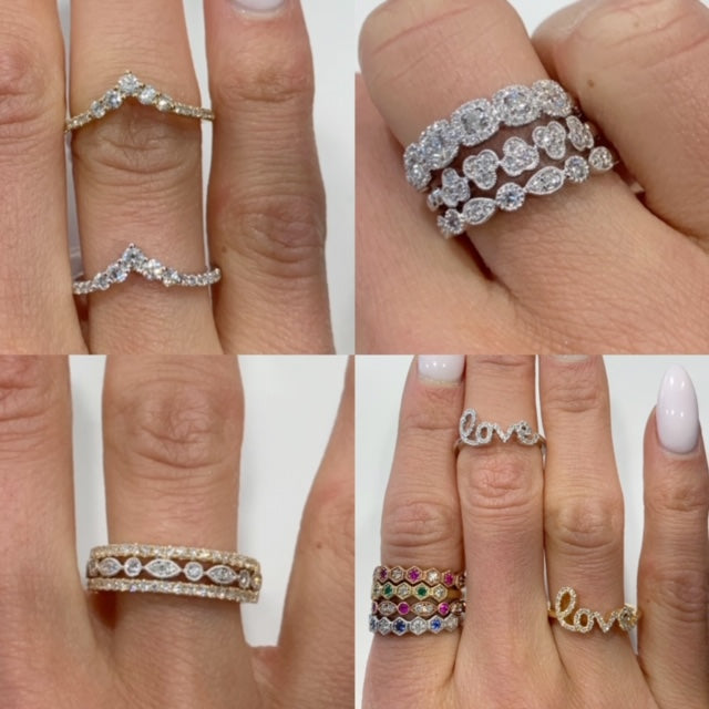 stacking rings, stackable rings, trendy rings, wedding band, layering rings, stackables, gemstone rings, gemstone stacking ring, diamond stacking rings, diamond stackable
