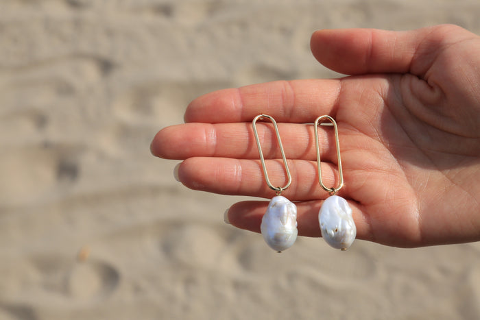 Natural Baroque Pearl Earrings