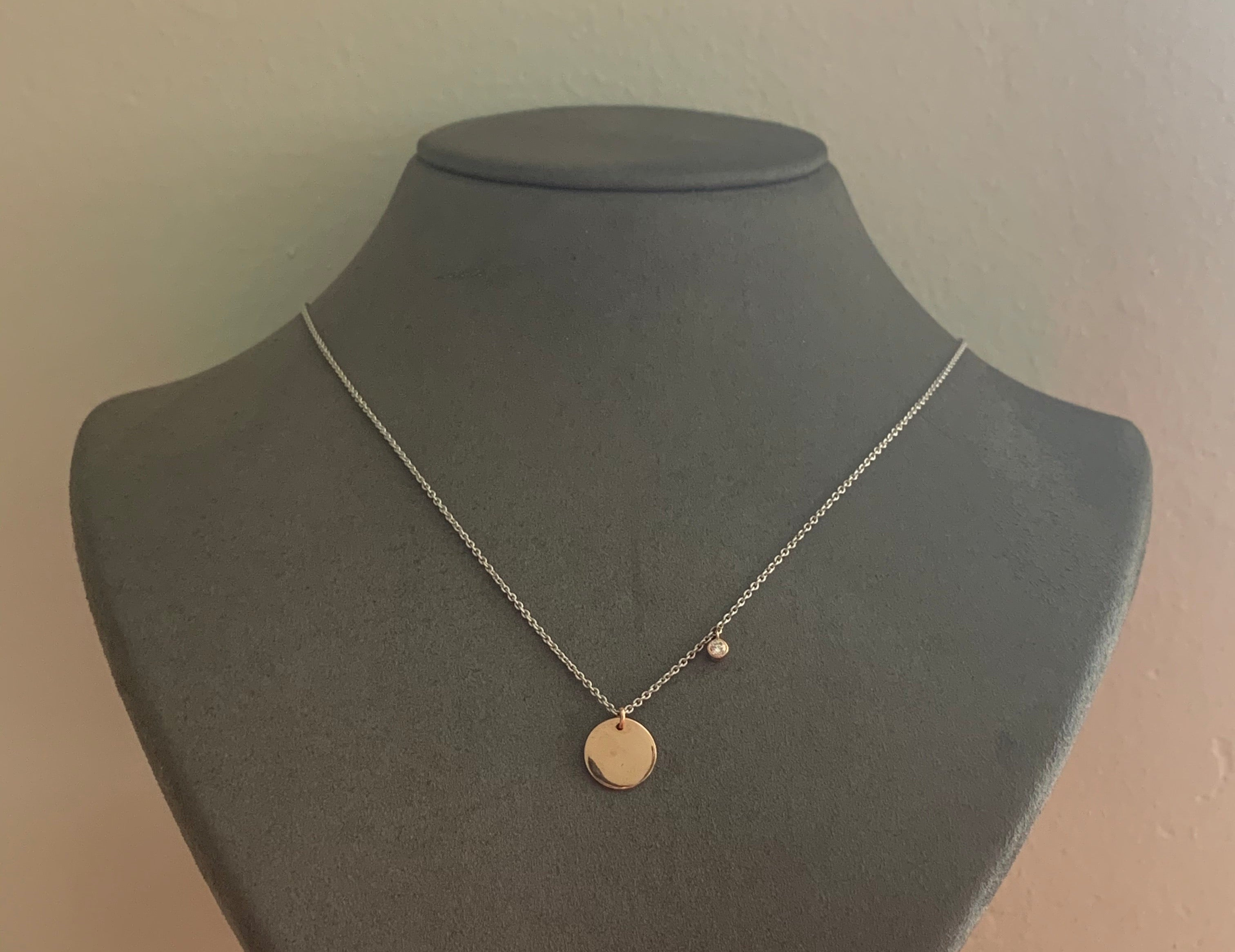 Engraveable Disc Necklace