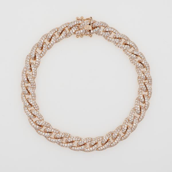 diamond bracelet, pave diamonds, diamond link, link bracelet, diamond chain, diamond necklace, curve diamonds, gold and diamonds, rose gold bracelet, white gold bracelet, yellow gold and diamonds, trendy diamonds, trendy diamond bracelet