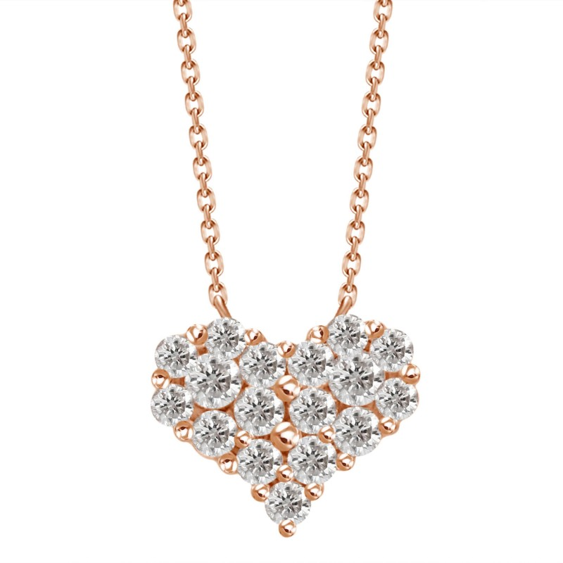 Dainty Diamond Heart Pendant