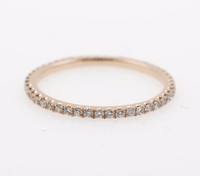Pave' Diamond Wedding Band