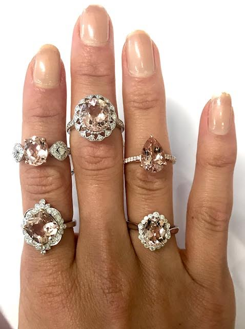 Morganite Selection of Rings
