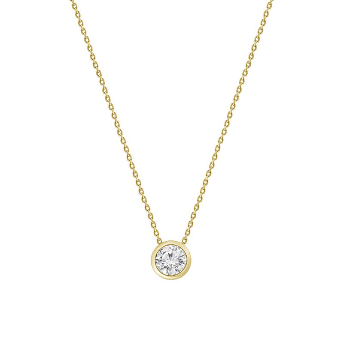 bezel diamond, bezel diamond necklace, diamond chain, diamond bezel, round diamond, small diamond necklace, diamond chain, chain with diamond