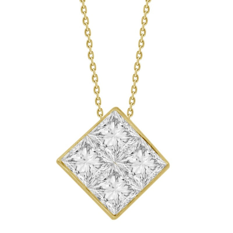 Princess Diamond Pendant