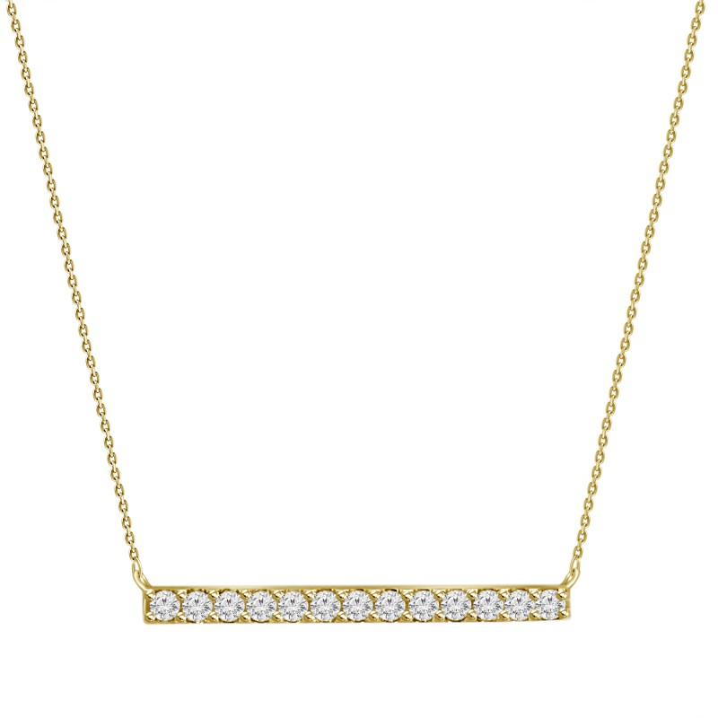 Pave Diamond Stick Pendant
