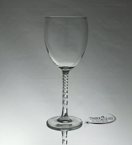 customize angelique goblet by Timber 2 Glass, laser engrave goblet, personalize goblet