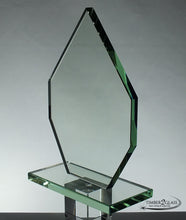 customize diamond shape award-Timber 2 Glass, laser engrave, personalize award