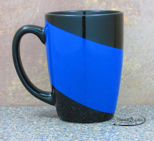 customize challenger mug, personalize mug, laser engrave mug with Timber 2 Glass